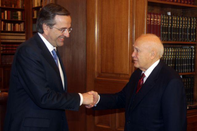 President Papoulias receives Prime Minister Samaras   tovima.gr