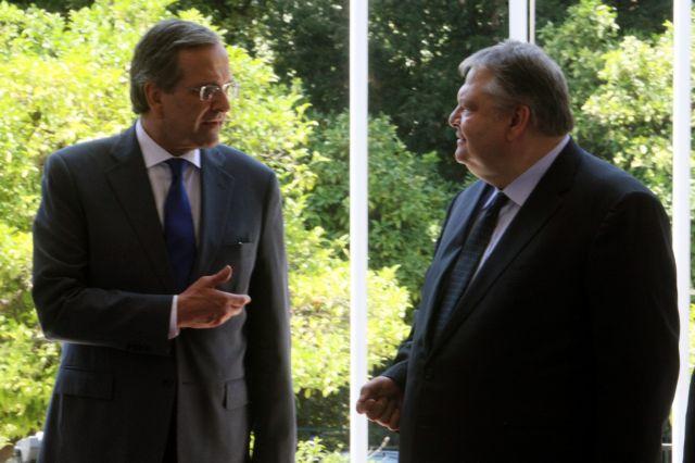Samaras and Venizelos arrange to meet around 2pm   tovima.gr