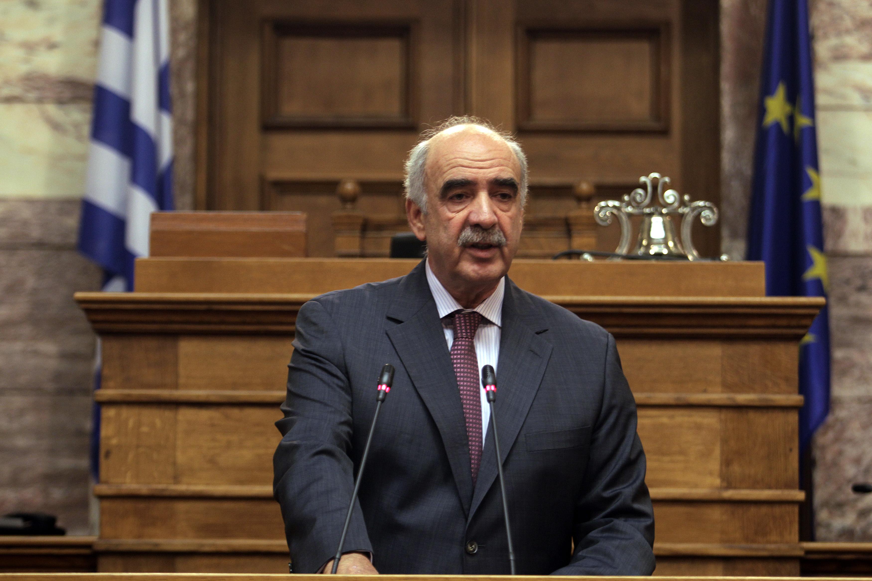 Μεϊμαράκης στη Βουλή: Οχι στη ψήφο εμπιστοσύνης της κυβέρνησης Τσίπρα – Καμμένου | tovima.gr