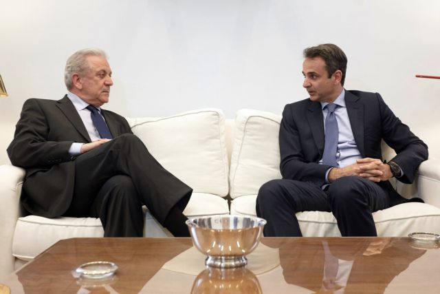 Mitsotakis-Avramopoulos meet to discuss refugee crisis   tovima.gr