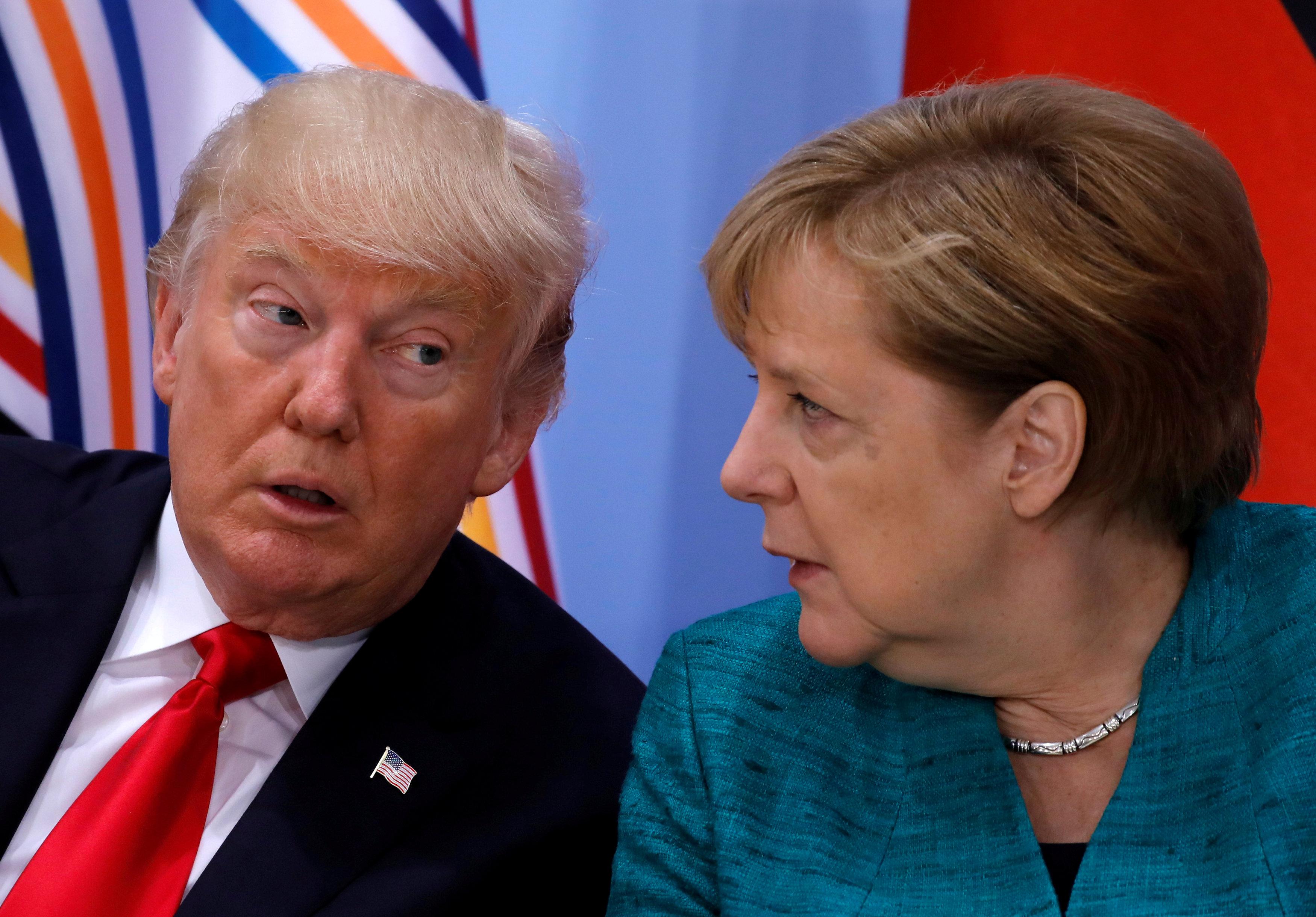Μετά τον Μακρόν, η Μέρκελ αναλαμβάνει να «πιέσει» τον Τραμπ για δασμούς και Ιράν | tovima.gr