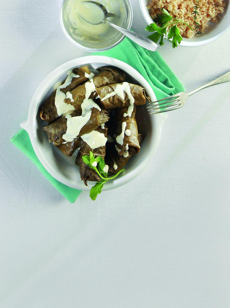 Ντολμάδες με κατσίκι και σάλτσα γιαουρτιού   tovima.gr