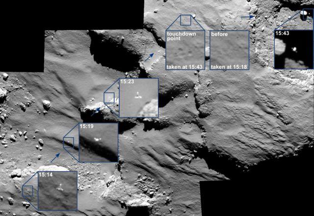 Ντοκουμέντο από την πορεία του Philae στον κομήτη | tovima.gr