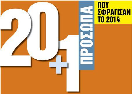 20 + 1 πρόσωπα που σφράγισαν το 2014 | tovima.gr