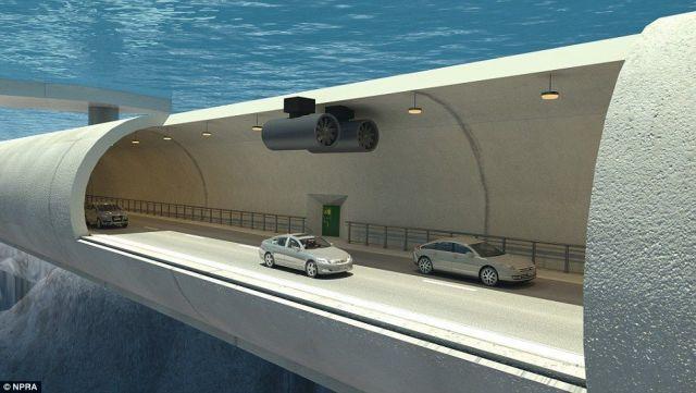Τούνελ αυτοκινήτων που επιπλέουν μέσα στο νερό! | tovima.gr