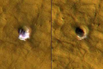 Πάγος ανακαλύφθηκε μέσα σε «εύκρατους» κρατήρες του Αρη | tovima.gr