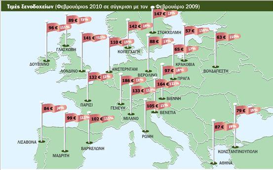 Μειωμένες τιμές στα ξενοδοχεία της Ευρώπης | tovima.gr