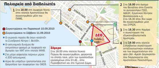 Σε αστυνομικό κλοιό η Θεσσαλονίκη | tovima.gr