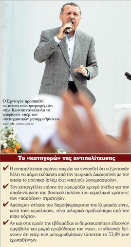 <b>Ρετζέπ Ταγίπ Ερντογάν</b>Καταγγέλλει «μαύρη προπαγάνδα» | tovima.gr