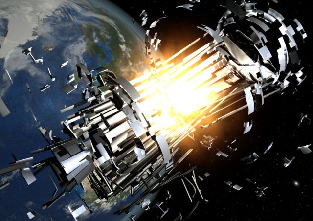 Λέιζερ στα διαστημικά σκουπίδια   tovima.gr