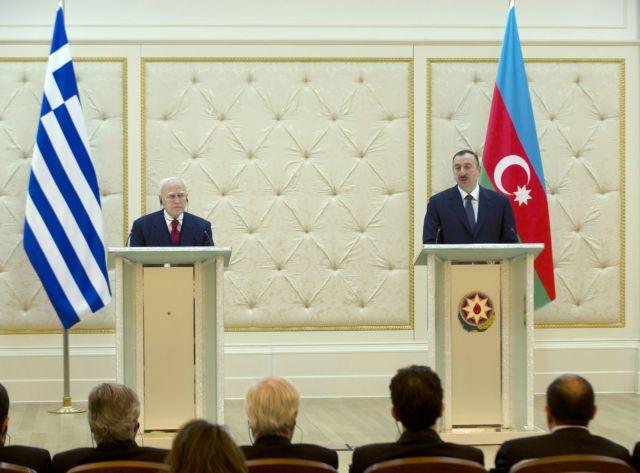 President of Azerbaijan visits Athens to discuss TAP development | tovima.gr