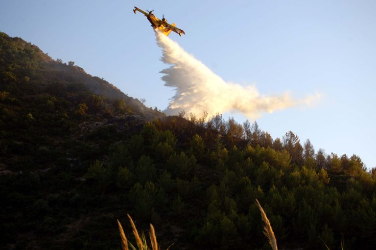 Σε ύφεση η φωτιά στην Κέρκυρα | tovima.gr