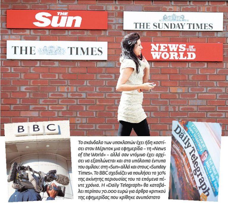 Μαύρες μέρες για  τον βρετανικό Τύπο | tovima.gr