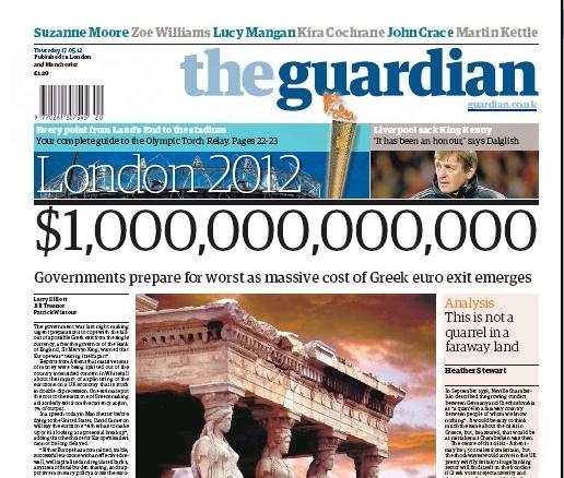 Guardian: 1 τρισ. δολάρια το κόστος εξόδου της Ελλάδας   tovima.gr