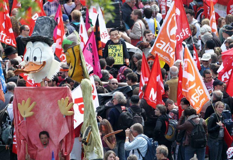 Φρανκφούρτη: Πάνω από 20.000 διαδήλωσαν κατά της λιτότητας   tovima.gr