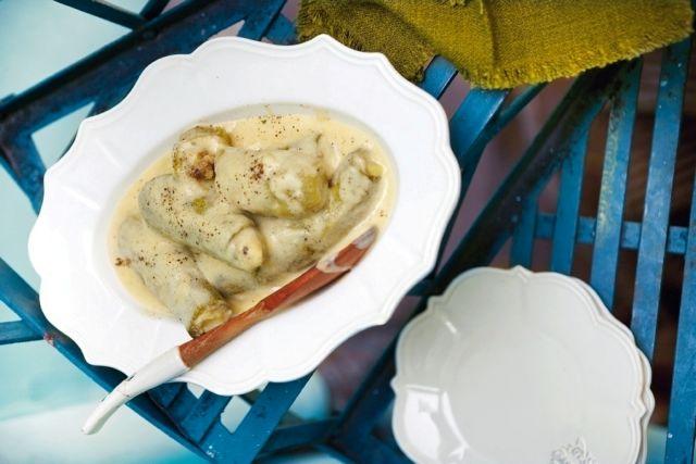 Κολοκύθια αβγολέμονο με κιμά και τραχανά   tovima.gr