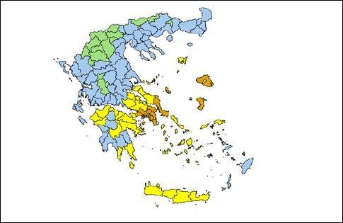 Υψηλός κίνδυνος πυρκαγιάς τη Δευτέρα σε Εύβοια, Λέσβο, Χίο και την Αττική | tovima.gr