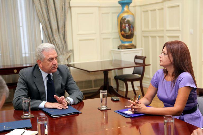 Συνάντηση της ΔΗΜΑΡ με τον υπουργό Εξωτερικών κ. Δ. Αβραμόπουλο | tovima.gr