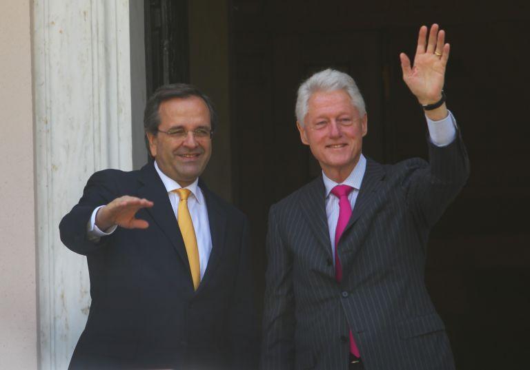 Με τον Αντώνη Σαμαρά συναντήθηκε ο Μπιλ Κλίντον | tovima.gr