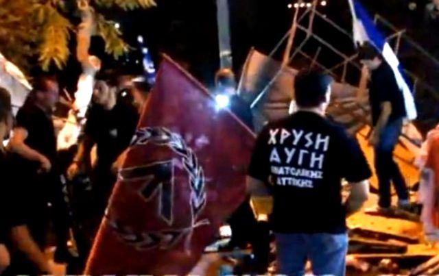 Νεαροί με μπλούζες Χρυσής Αυγής έκαναν ελέγχους σε μετανάστες | tovima.gr