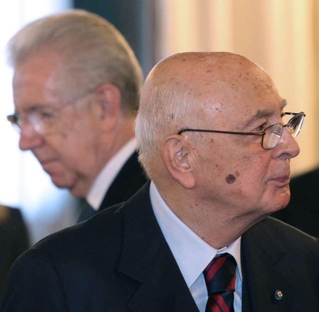 Διαψεύδει ο Ναπολιτάνο ότι προετοίμαζε κυβέρνηση Μόντι από τον Ιούνιο του 2011   tovima.gr