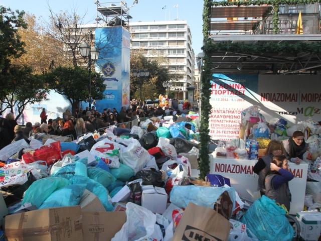 Οκτώ τόνοι τροφίμων για τον Κόμβο Αλληλοβοήθειας Πολιτών | tovima.gr