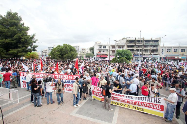 ΠΑΜΕ: Σε εξέλιξη το συλλαλητήριο στην πλατεία της Αγίας Παρασκευής | tovima.gr
