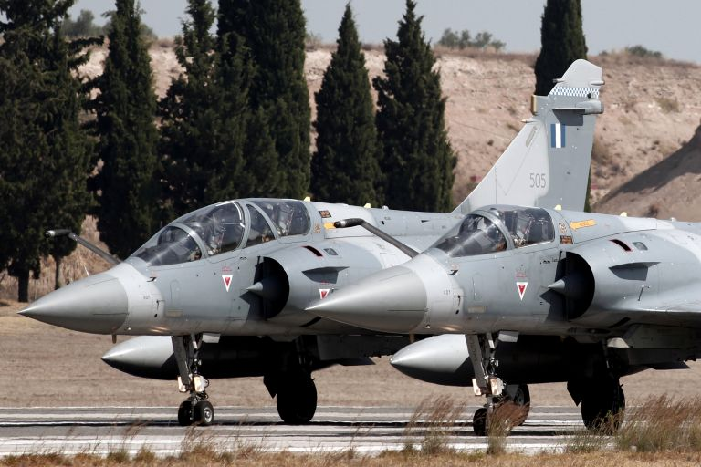 Greek Mirage 2000-5 crashes north of Skyros island, pilot dead   tovima.gr