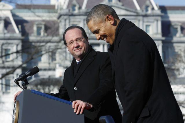 «Μαζί απέναντι στις προκλήσεις», δηλώνουν Ομπάμα και Ολάντ | tovima.gr