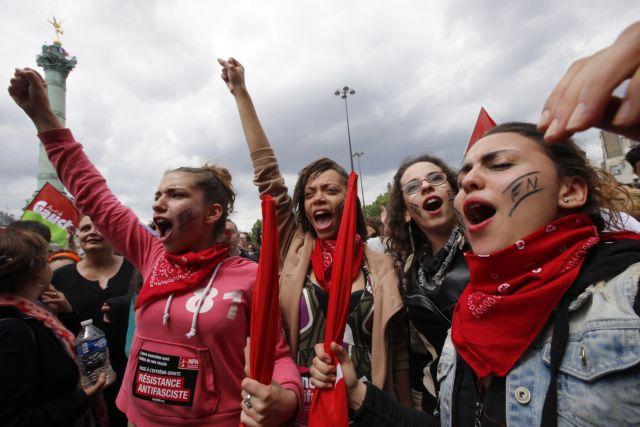Πορεία στη Βαστίλλη με συνθήματα κατά της ανόδου της Λεπέν | tovima.gr