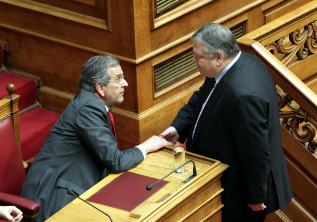 Samaras and Venizelos meet before first critical Presidential vote | tovima.gr