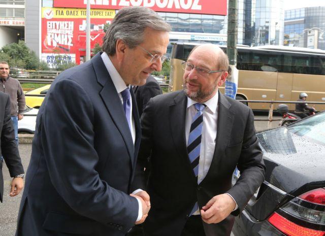 Με τον Αντ. Σαμαρά συναντήθηκε ο Μ.Σούλτς   tovima.gr