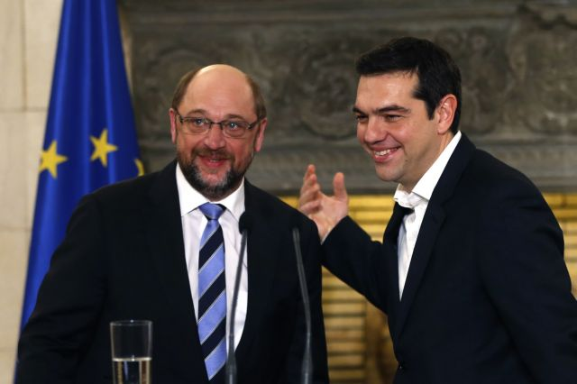 Tsipras-Schulz to discuss refugee crisis and bailout implementation   tovima.gr