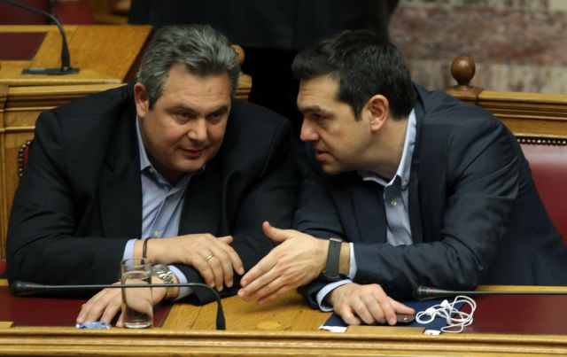 Tsipras and Kammenos arrange meeting to discuss alliance   tovima.gr