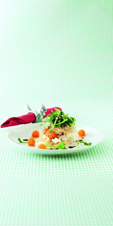 Σαλάτα με κανταΐφι, φρέσκο ανθότυρο και γλυκό κολοκύθας   tovima.gr