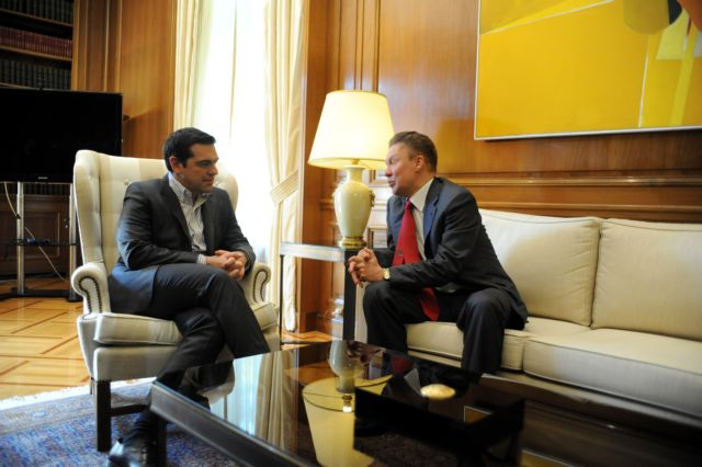 PM Tsipras and Gazprom chief discuss natural gas pipeline project | tovima.gr
