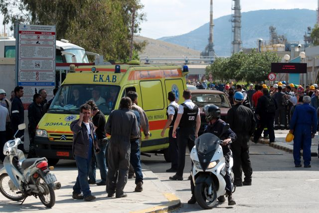 Worker injured in refinery explosion succumbs to injuries | tovima.gr