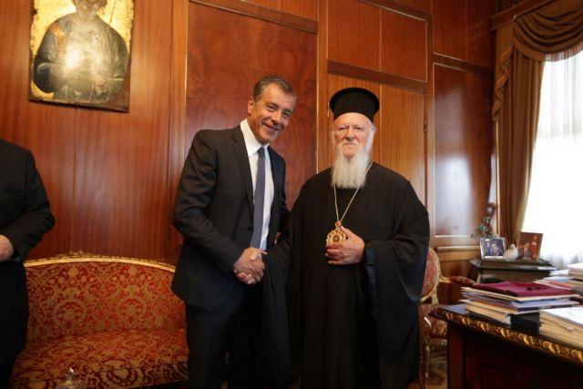 Ο Σταύρος Θεοδωράκης επισκέφθηκε Το Οικουμενικό Πατριαρχείο   tovima.gr