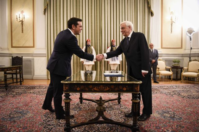 Alexis Tsipras sworn in as Prime Minister for second time | tovima.gr