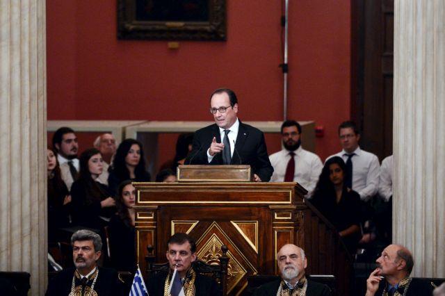 Ολάντ στο ΕΚΠΑ:Εχω ένα κομμάτι της μυστικής Ελλάδας στην καρδιά μου | tovima.gr