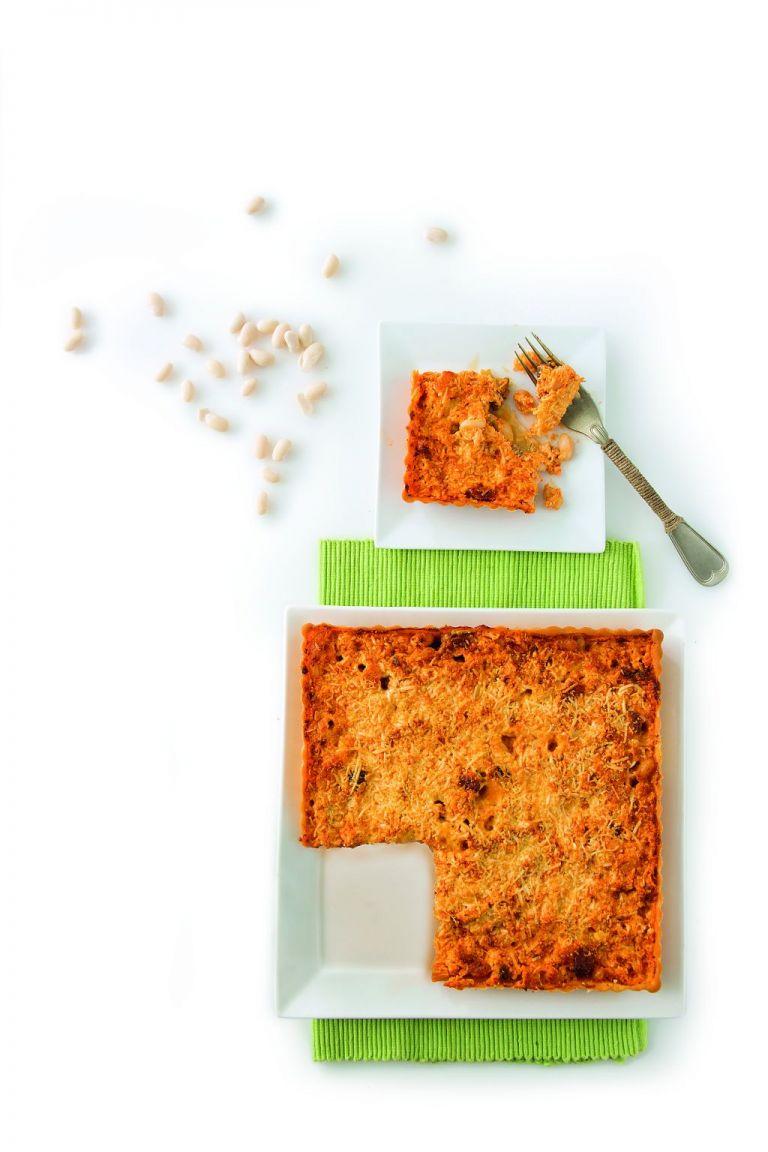Ανοιχτή πίτα με φασόλια και σύγλινο | tovima.gr