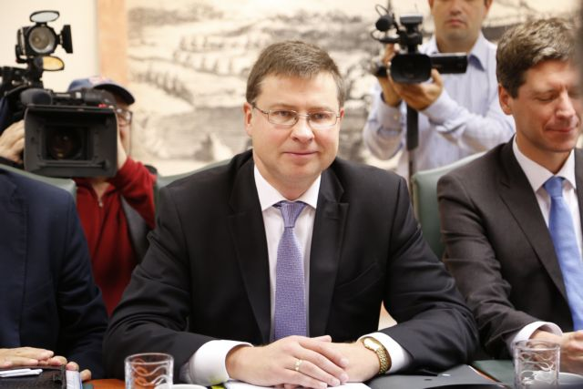 Dombrovskis meets with top government finance officers in Athens | tovima.gr