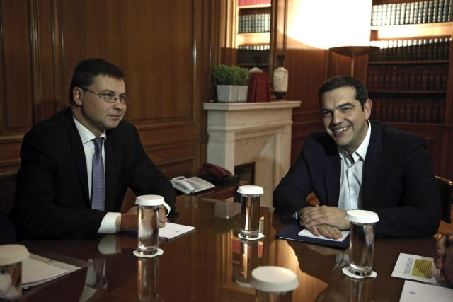 Dombrovskis visit to Athens 'reigns in' the Greek government | tovima.gr