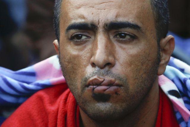 Ειδομένη: Πρόσφυγες έραψαν τα στόματά τους | tovima.gr