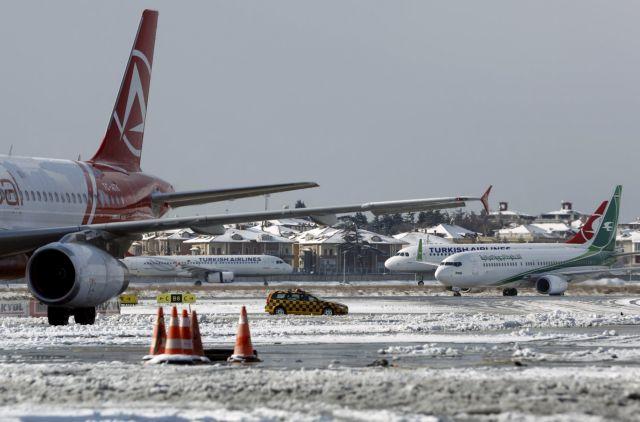 Κωνσταντινούπολη: Ακυρώσεις πτήσεων λόγω χιονοπτώσεων | tovima.gr