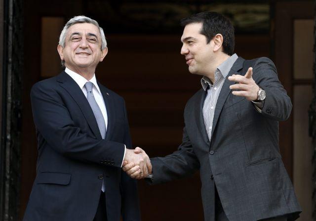 Prime Minister Tsipras receives President of Armenia Sargsyan | tovima.gr
