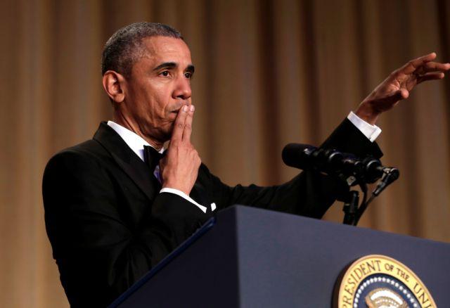 Όταν ο Ομπάμα «απογειώνει» το τελευταίο δείπνο των ανταποκριτών | tovima.gr