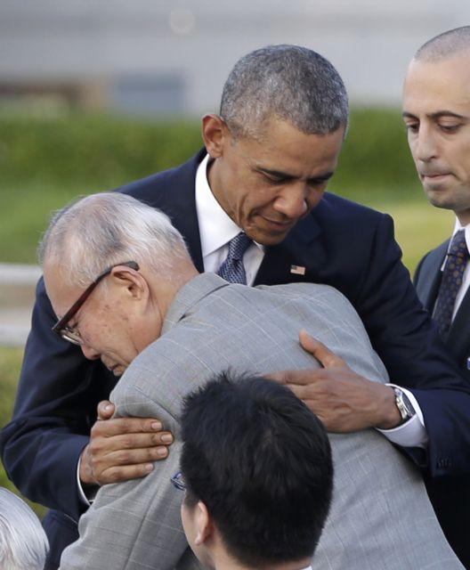 Σιγκεάκι Μόρι: Ο «τυχερός» της Χιροσίμα που βρέθηκε στην αγκαλιά του Ομπάμα | tovima.gr