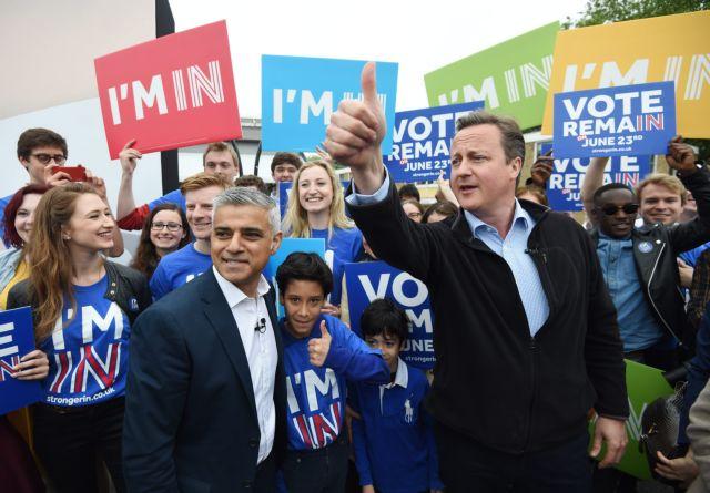 Ντέιβιντ Κάμερον και Σαντίκ Καν μαζί κατά του Brexit | tovima.gr