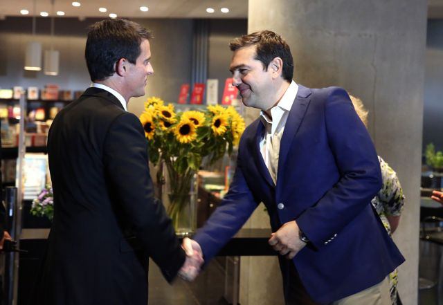 Tsipras and Valls sign road map for Greek-French strategic relations | tovima.gr